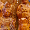 Ornately carved Buddhist statues for sale in Dong Ky, Vietnam. Photo by Chris Humphrey.