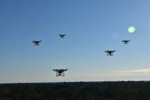 Small commercial unmanned aerial vehicles (UAVs), or drones, help landowners remotely monitor forests and capture high-resolution images of human activity below.