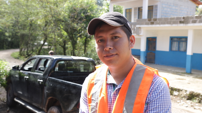 Cuahutemoc Lima, one of the Tosepan cooperative's team of young solar panel installers. Image by Ethan Bien for Mongabay.