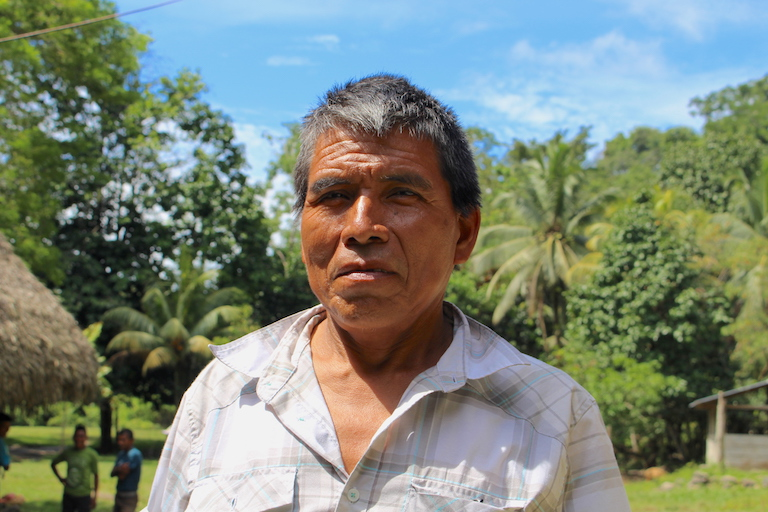 As one of the most respected voices in his Q'eqchi' community, Pedro Pop Quin has helped convince locals to join conservation efforts. Image by Anna-Catherine Brigida for Mongabay.