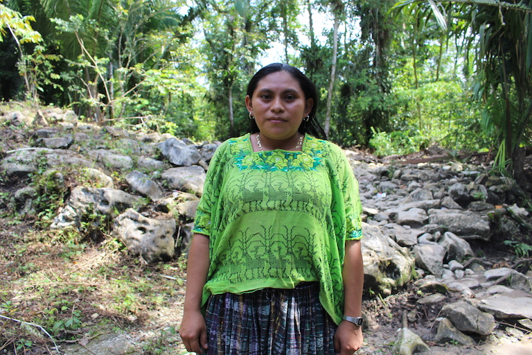 Paulina Ba Choc intends to register her land in a government program that gives cash incentives for small landowners to preserve their forest cover. She plans to use the money to provide for her family. First, however, she must gain legal title to her land. Image by Anna-Catherine Brigida for Mongabay.