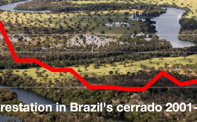 Deforestation in Brazil's cerrado falls