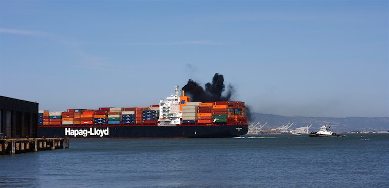 Marine shipping accounts for about 3 percent of global carbon emissions. Image by Jennifer Woodard Maderazo via Flickr (CC BY 2.0).