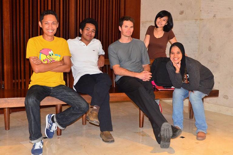Mongabay-Indonesia's original team in 2012.