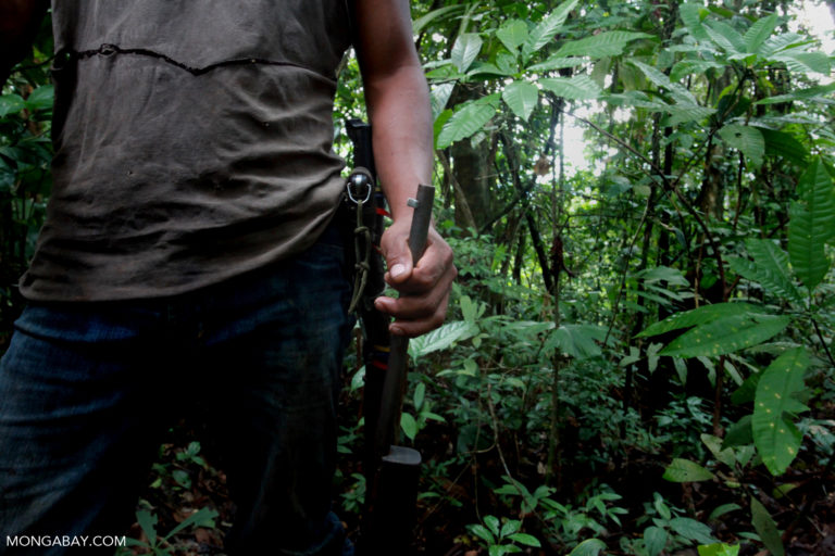 A hunter in Colombia. Photo by Rhett A. Butler