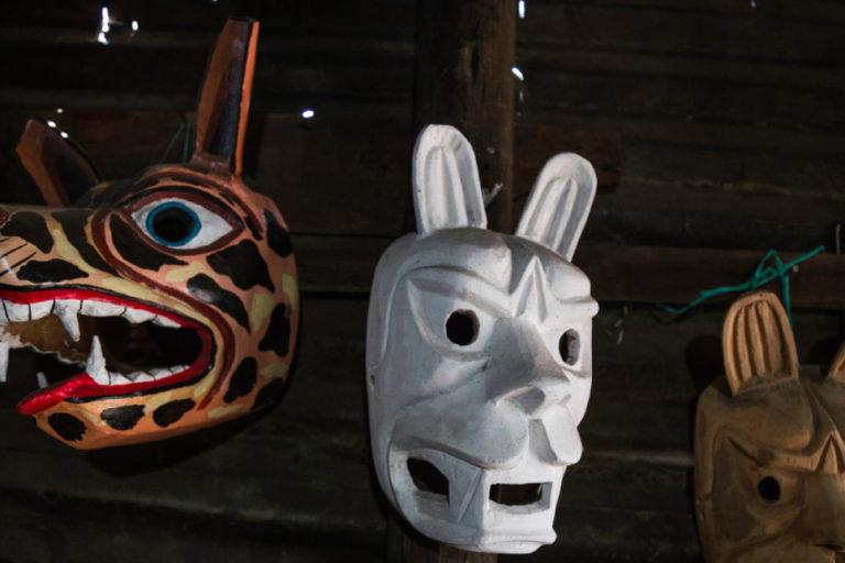 The masks of Julio Toaquiza have been exhibited in various countries such as Colombia and Bolivia, where it has been recognized that their art is unique. Photo by Jonatan Rosas for Mongabay.