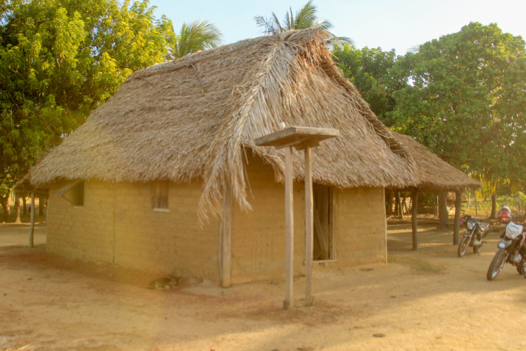 A traditional Amerindian home in Guyana in 2018. Photo by Ereika DeAndrade.