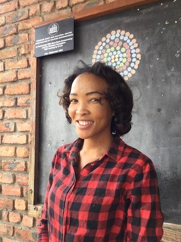 Nyae Nyae Conservancy's office administrator Elizabeth Kgao. Image by John Grobler for Mongabay.