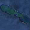 Rennell Island in the Solomon Islands, where the oil spill occurred. Image courtesy of Google Earth.
