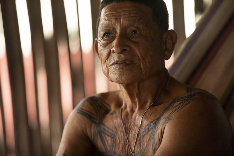 Palo Liso, leader of the community of Puerto Lara. Image by Alexander Arosemena for Mongabay.