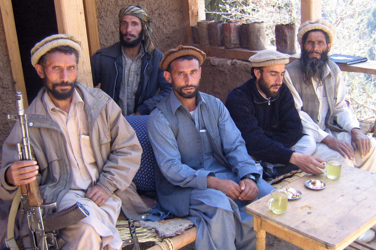 Armed men in Nuristan. WCS/Alex Dehgan