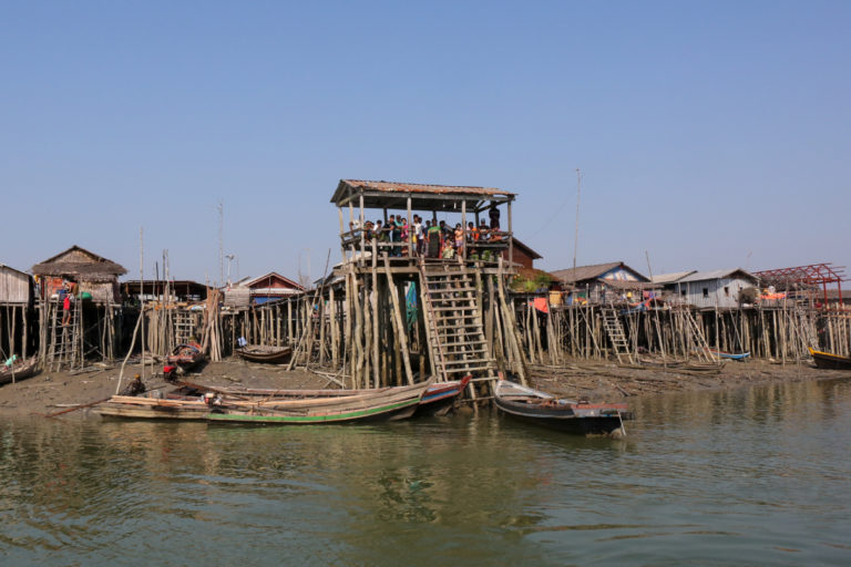 A coastal village near the Myeik area in Myanmar. Photo by Victoria Milko.