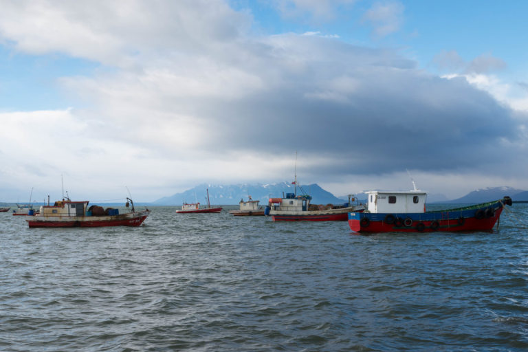 Fishing boats in Seno de Última Esperanza (Last Hope Sound), in southern Chile. Image by Robert Nunn via Flickr.