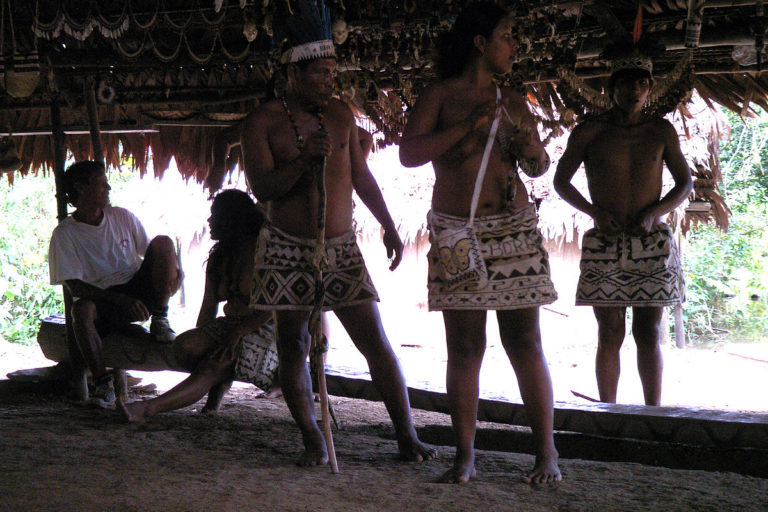 Bora indigenous people live close to the isolated indigenous groups on the border of Río Puré National Natural Park. Image courtesy of Etnias del Mundo.