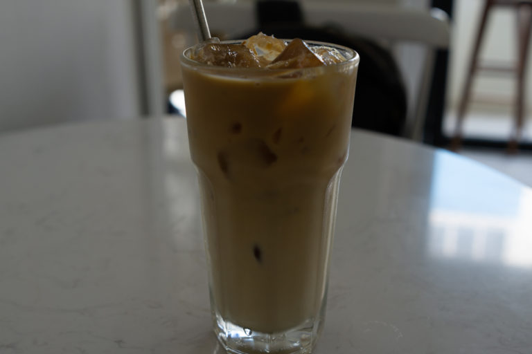 A cold brew latte served at one of Ho Chi Minh City's many specialty coffee shops. Photo by Michael Tatarski for Mongabay.