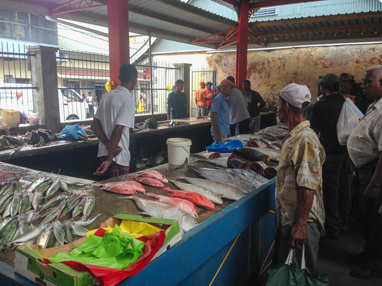 Fish for sale in Victoria, the capital of the Seychelles. Image by John C. Cannon/Mongabay.