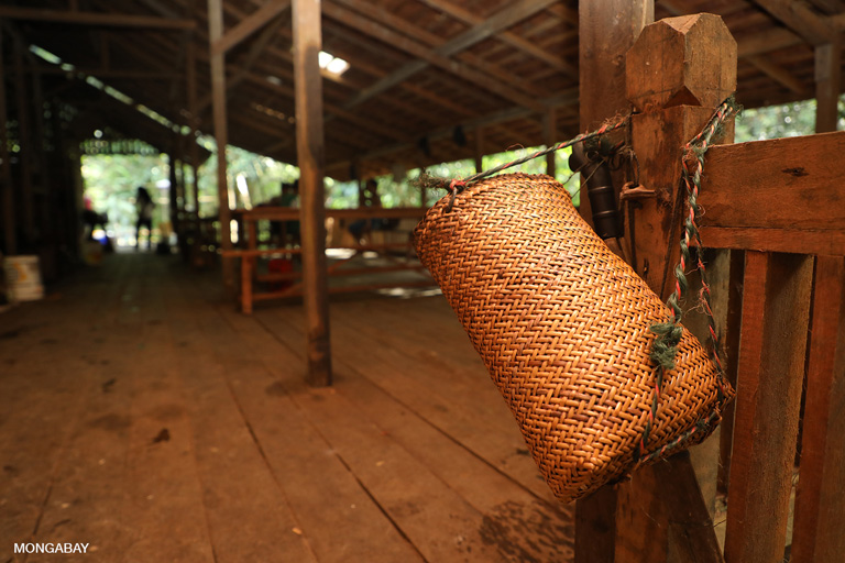 Traditional Iban basket at Langkau Ngetu. Photo by Rhett A. Butler