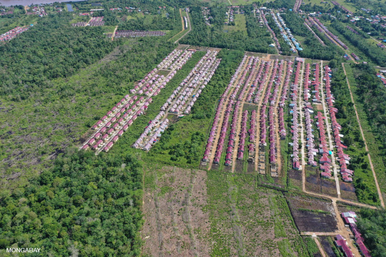 Forest clearing for urban expansion near Pontianak, Indonesia. Photo by Rhett A. Butler.