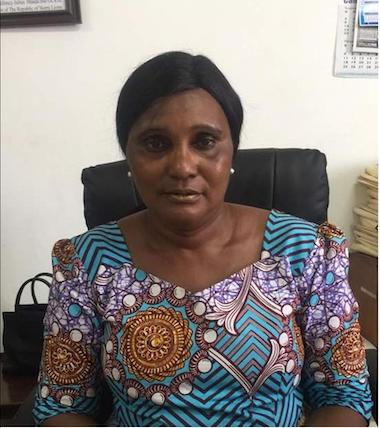 Sierra Leone's director of fisheries, Khadijatu Jalloh, at her office. Image by Uzman Unis Bah for Mongabay.