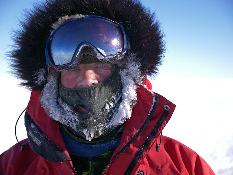 Robert Swan during the 2017-18 South Pole Energy Challenge. Courtesy of the 2041 Foundation.