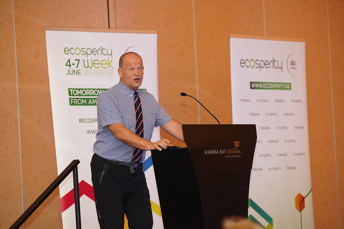 Robert sharing about his journey at the Ecosperity Conversations session on 6 June. Courtesy of Temasek.