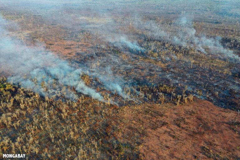 Forest fires near Kirindy Forest. Photo by Rhett A. Butler / Mongabay.
