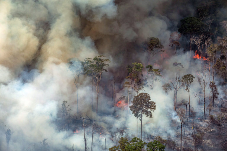 How many fires are burning in the Amazon?