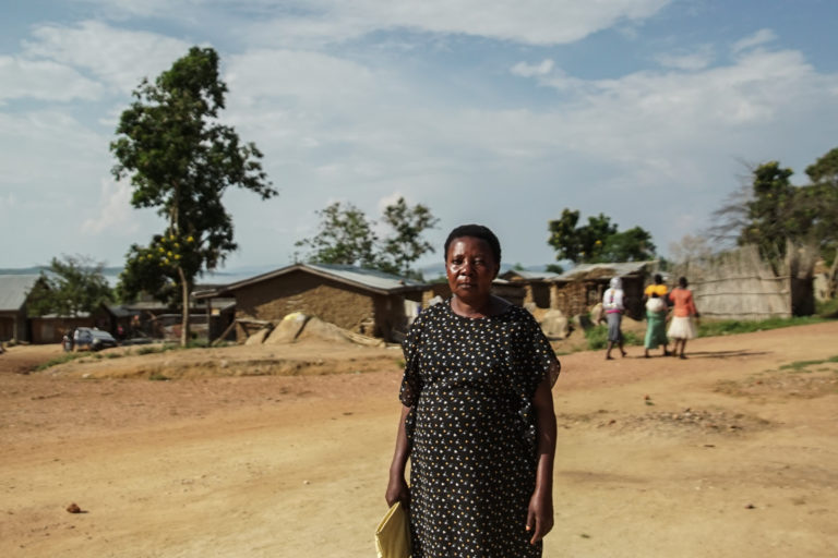 Mariam Nakatu, who is leading a legal case against the government brought by more than 600 evicted residents of Buvuma. Photo: Thomas Lewton for Mongabay.