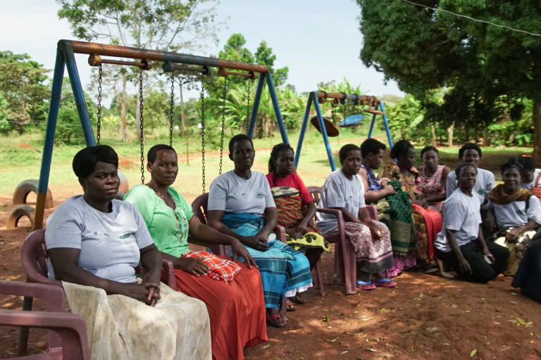 Members of the Ganyana Women's Group on Buvuma Island: Photo: Thomas Lewton for Mongabay