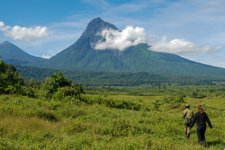 Mount Mikeno, a dormant volcano in the Virunga Mountains. Image by John C. Cannon/Mongabay.