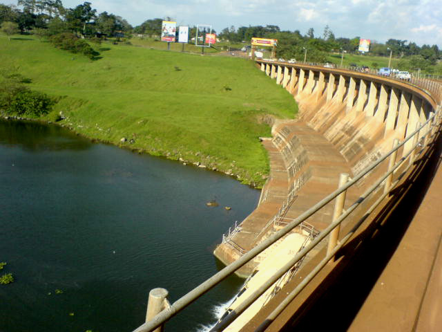 Nalubaale Dam: hydroelectricity makes up more than three quarters of Uganda's installed generating capacity. Image by Frederick Onyango via Wikicommons (CC BY 2.0)