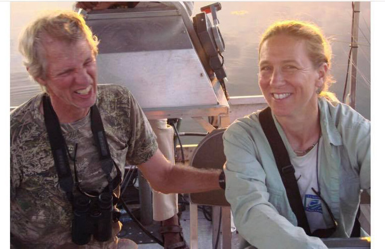George Powell with Sue Palminteri in Botswana. Photo courtesy of Mark Johnson.