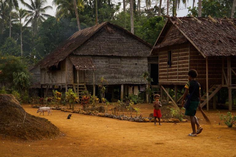 Njeckal village on Manus Island in Papua New Guinea.