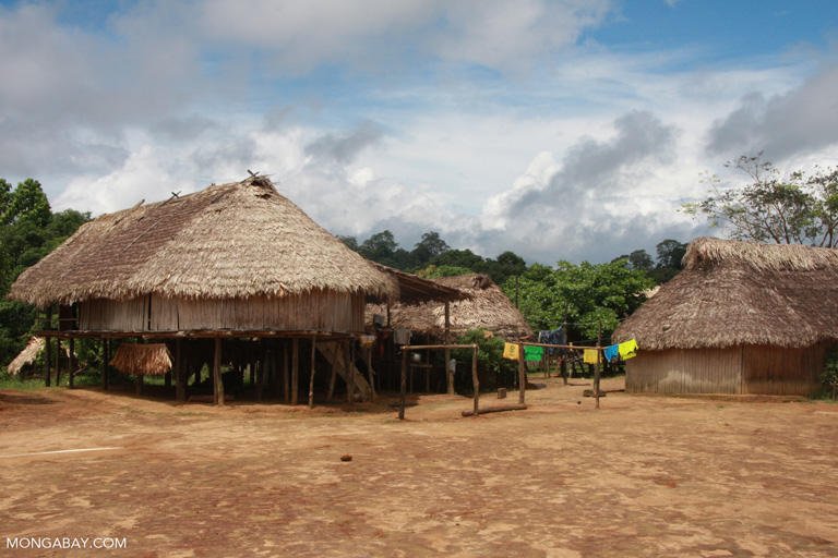 An indigenous community in Suriname. Image by Rhett A. Butler/Mongabay.