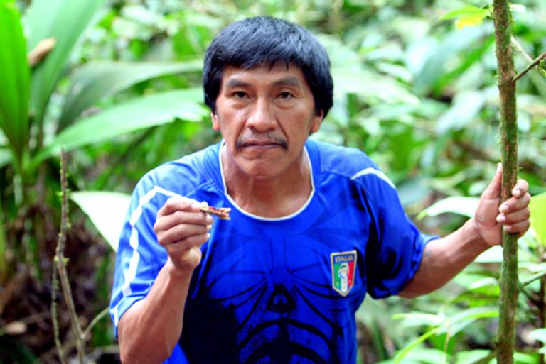 A Yasuni man in Ecuador. Image by Rhett A. Butler/Mongabay.