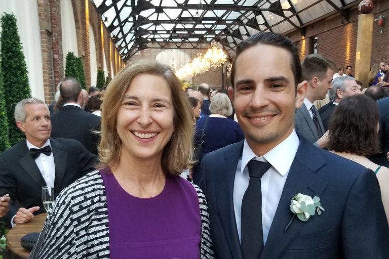 Phillip Jacobson with his mother Elizabeth (left).