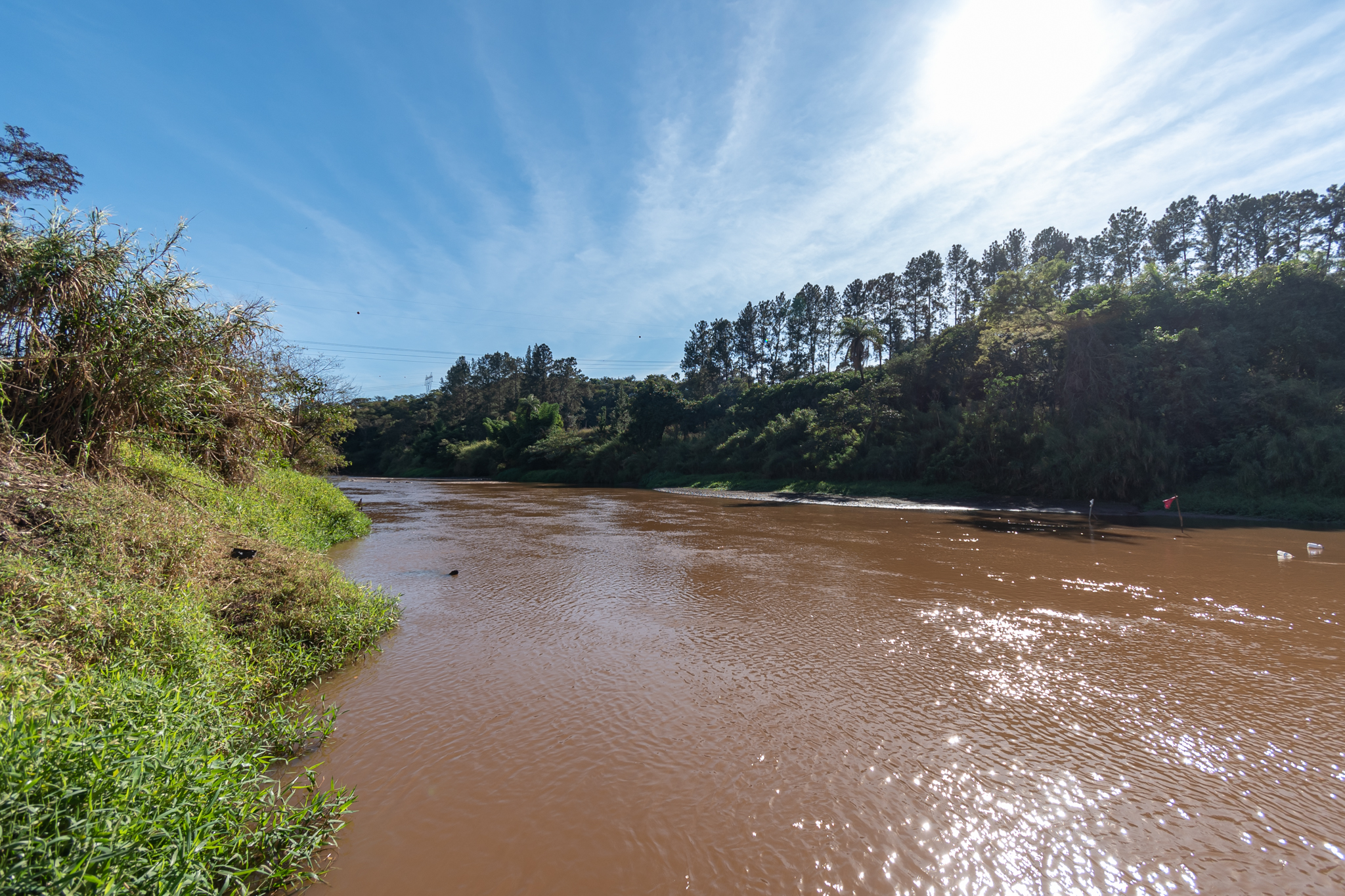 The Paraopeba River has been affected by the disaster caused by the collapse of a mining dam operated by Vale on 25 of January 2019. Image by Luiz Guilherme Fernandes for Mongabay