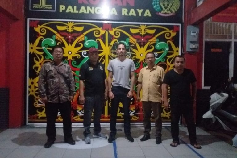Philip Jacobson shortly after his release from the Palangkaraya Class II detention center on January 24, 2020