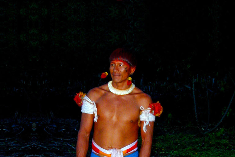Waura man in Brazil. Photo by Sue Wren.