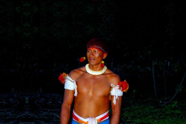 Waura man in Brazil. Photo by Sue Wren.