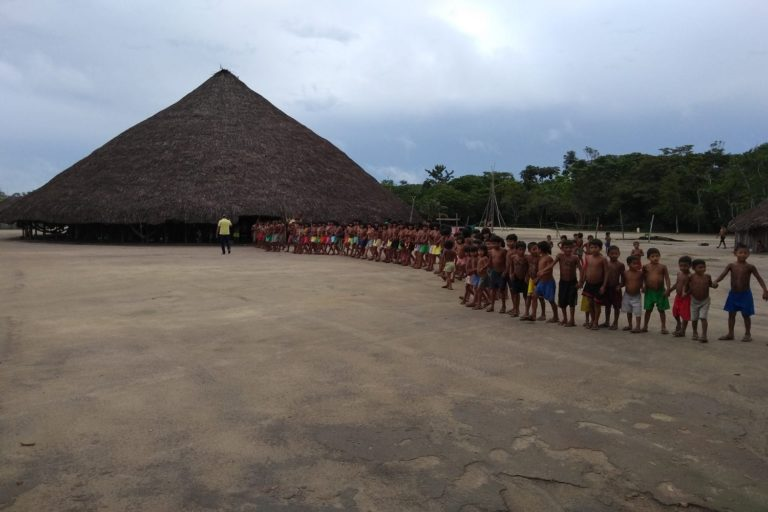 Waimiri-Atroari indigenous village, where the Kinja indigenous people live in the northernmost state of Roraima, in the Brazilian Amazon. A federal judge has ordered government websites to publish a letter from the Kinja indigenous people for 30 days as part of their right of response to racist rhetoric by the administration of President Jair Bolsonaro. Image by Maiká Schwade/CPT Amazonas
