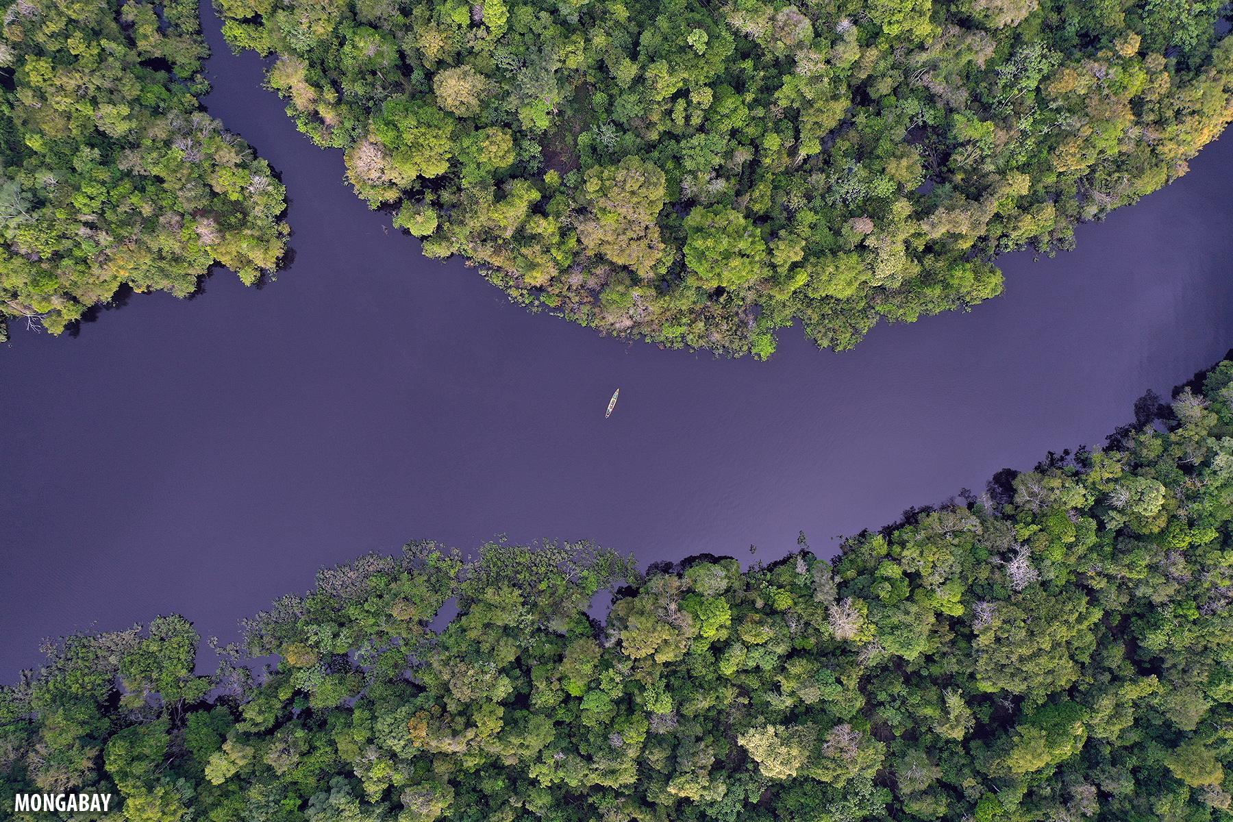 Canoe in the Zacambu river, Peru. Photo by Rhett A. Butler for Mongabay.