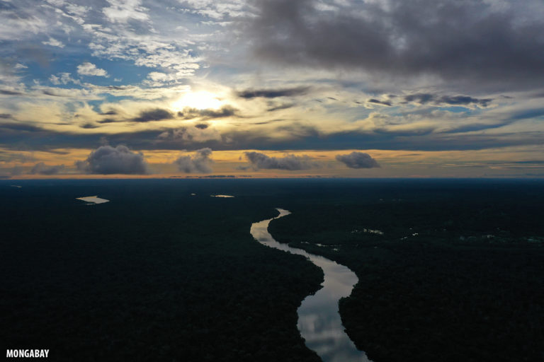 Sunset over the Amazon rainforest. Photo by Rhett A. Butler for Mongabay.
