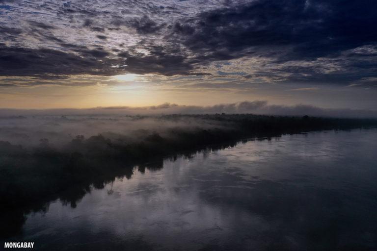Sunrise over the Amazon rainforest. Photo by Rhett A. Butler for Mongabay.