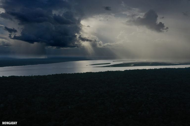 Rain storm the Amazon rainforest. Photo by Rhett A. Butler for Mongabay.