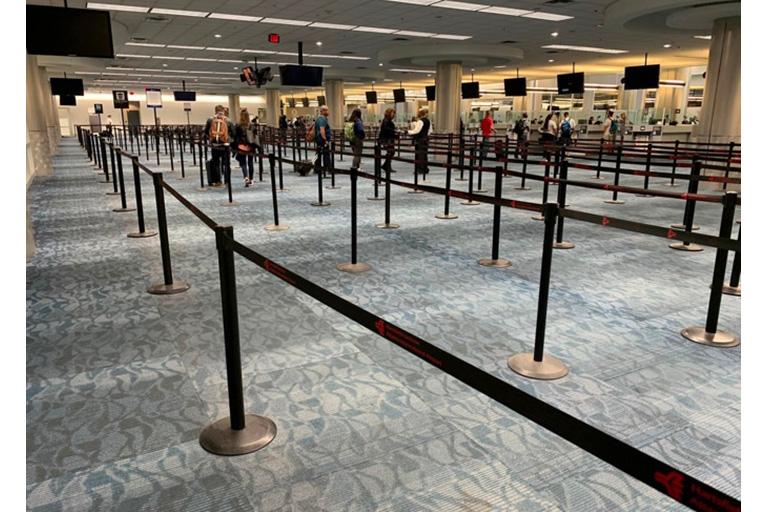 Surreal silence passing through Atlanta airport during the COVID crisis. Photo: WCS