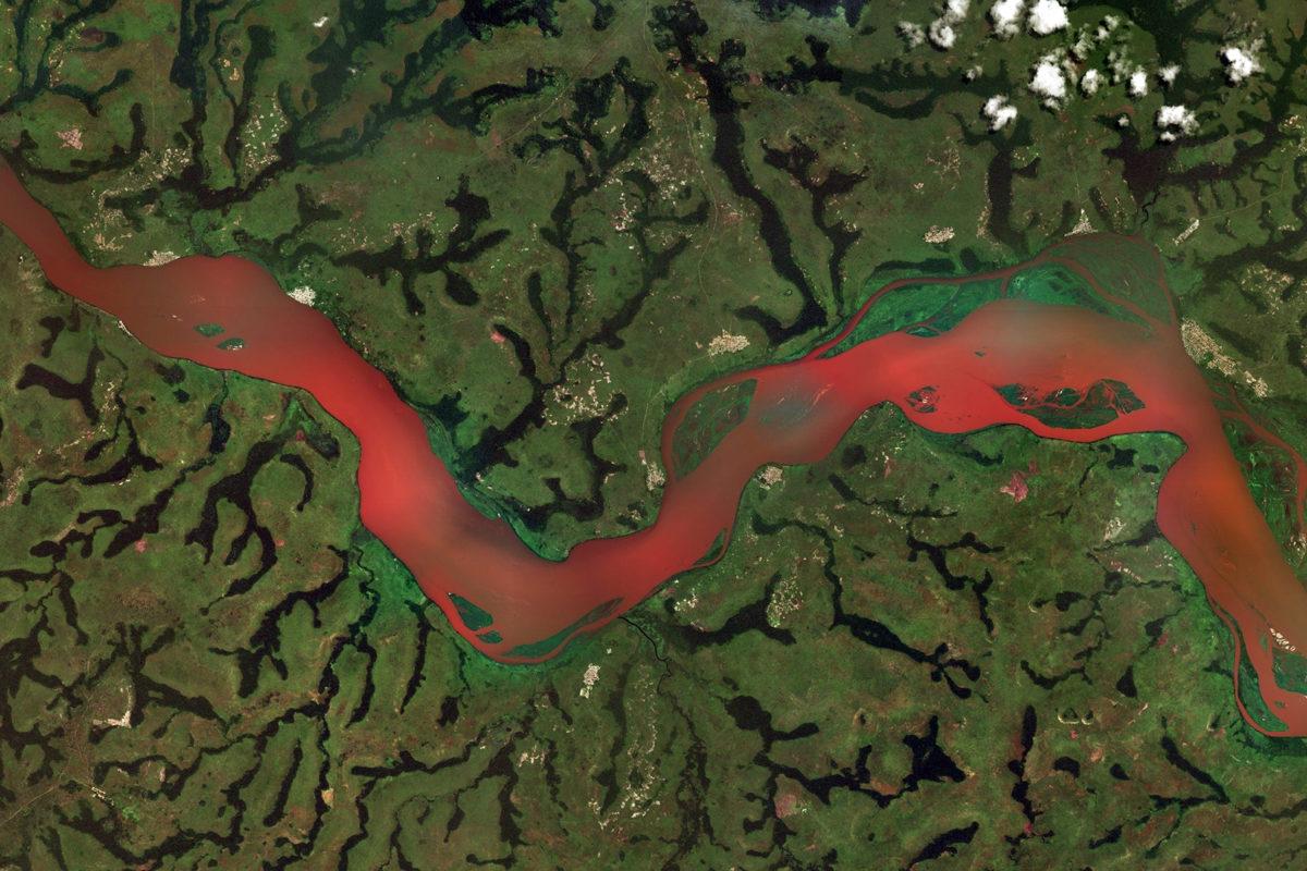 Soil erosion in the Kasai River, the Democratic Republic of the Congo (DRC)