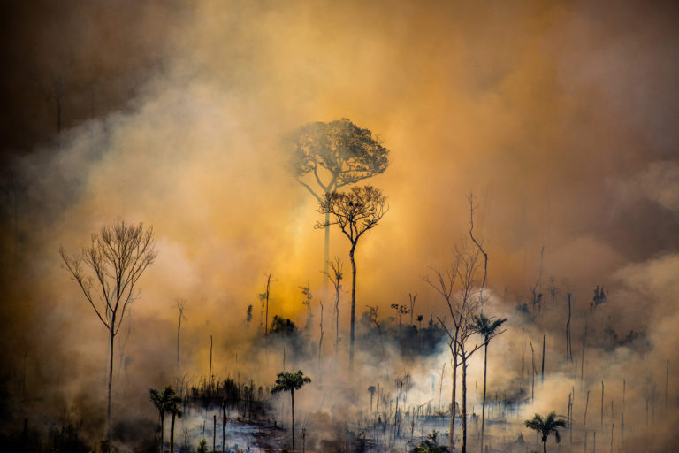 Heat spots in areas with Prodes warnings (2017-2019). Area next to the borders of the Kaxarari Indigenous Land, in Lábrea, Amazonas state. Taken 17 Aug, 2020. CREDIT: © Christian Braga / Greenpeace