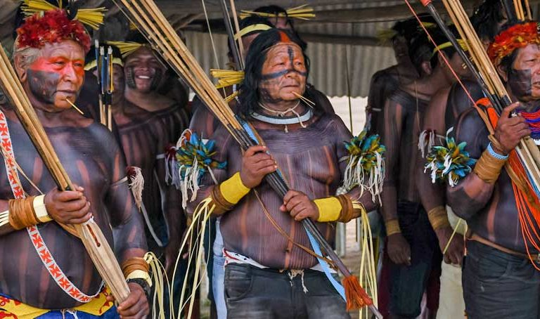 The Kayapó Xikrin people of the Northern Amazon were affected by 2019's infamous Fire Day. Photo taken in August 2019. Credit: Emilio Chong/Land is Life.