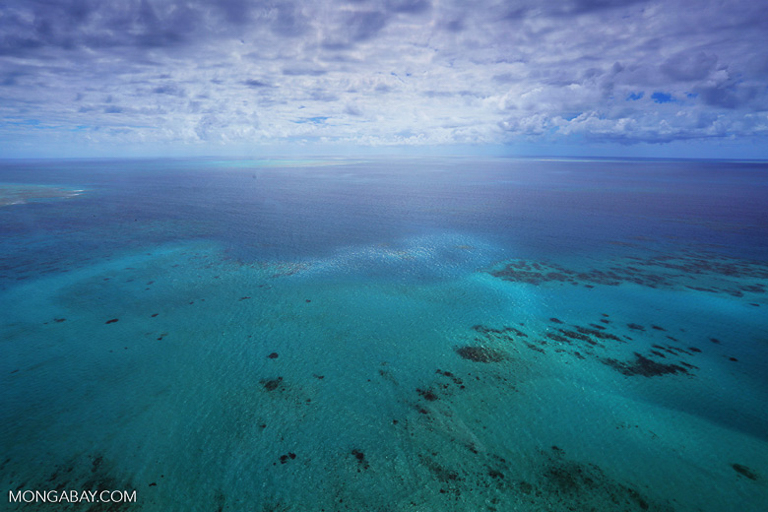 The Great Barrier Reef in Australia as seen from the air. Image by Rhett A. Butler/Mongabay.